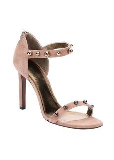 Lanvin beige suede 'Kipa' sphere studded ankle strap ...