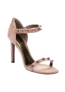 Lanvin beige suede 'Kipa' sphere studded ankle strap sandals