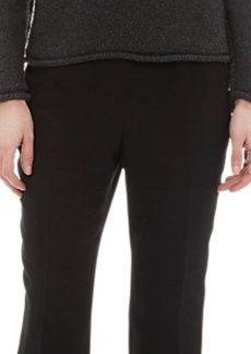 Lanvin Bejeweled-Neck Pullover Sweater