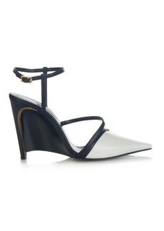 Lanvin Bi-colour point-toe leather pumps