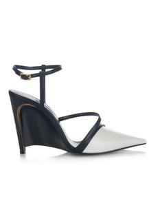 Lanvin Bi-colour point-toe leather pumps