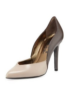 Lanvin Bicolor Wavy Leather Pump, Gray