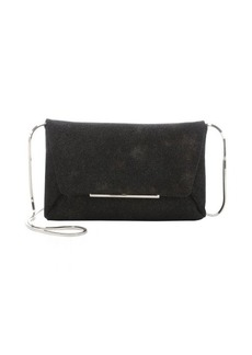Lanvin black and brown lizard-stamped goatskin 'Mai Tai' convertible chain shoulder bag