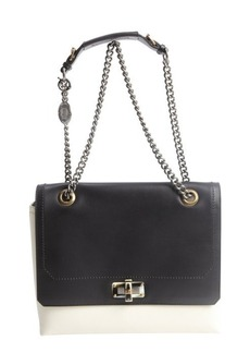 Lanvin black and white leather 'Happy Edgy' shoulder bag
