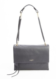 Lanvin black calfskin petite shoulder bag