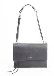 Lanvin black calfskin petite shoulder bag