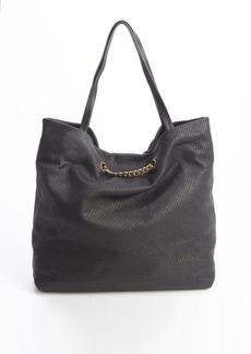 Lanvin black diagonally stitched leather 'Carry Me' bag