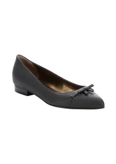Lanvin black goatskin leather 'Mima' pointy ballerina flats
