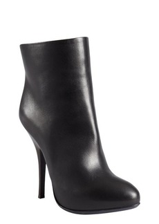Lanvin black leather platform ankle boots