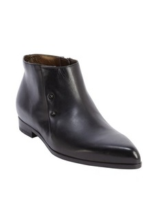 Lanvin black leather pointed toe booties