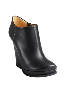 Lanvin black leather side zip platform ankle boots