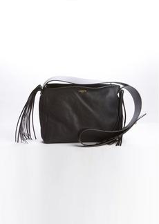 Lanvin black leather tassel detail shoulder bag