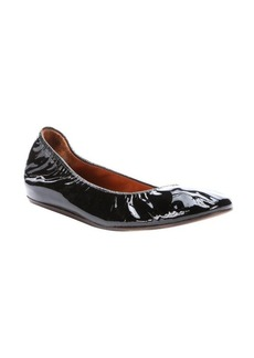 Lanvin black patent calfskin leather ballet flats