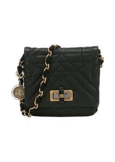Lanvin black quilted lambskin 'Happy Mini Pop' chain shoulder bag