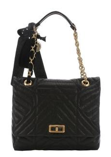 Lanvin black quilted leather 'Happy' medium shoulder bag