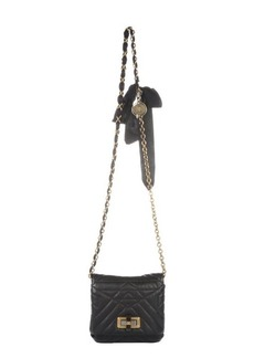 Lanvin black quilted leather 'Happy Mini Pop' crossbody bag