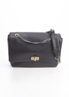 Lanvin black soft calfskin 'Happy' shoulder bag