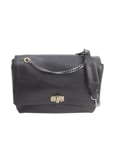 Lanvin black soft calfskin 'Happy' shoulder bag