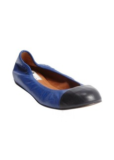 Lanvin blue and black cap toe ballet flats