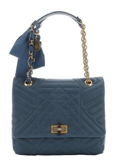 Lanvin blue quilted leather 'Happy' medium shoulder bag
