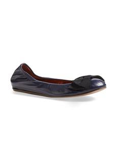 Lanvin Bow Ballerina Leather Flat (Women)