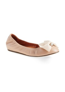 Lanvin Bow Ballerina Leather Flat (Women)