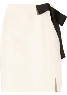 Lanvin Bow-embellished piqué pencil skirt