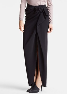 Lanvin Bow Waist Long Slit Skirt