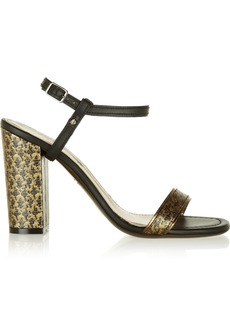 Lanvin Brocade and leather sandals