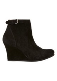 Lanvin Buckle-Strap Wedge Ankle Booties