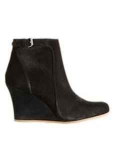 Lanvin Buckle-Strap Wedge Ankle Boots