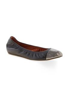 Lanvin Cap Toe Ballet Flat (Women)