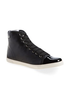 Lanvin Cap Toe High Top Leather Sneaker (Women)