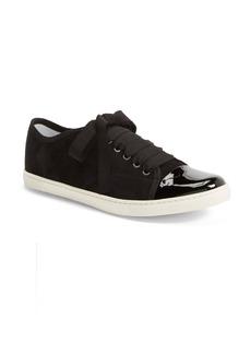 Lanvin Cap Toe Suede Sneaker (Women)