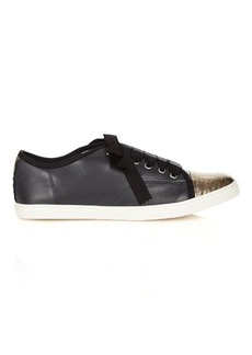 Lanvin Capped-toe leather trainers