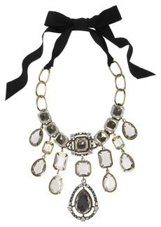Lanvin Cassiopee gold-tone Swarovski crystal necklace
