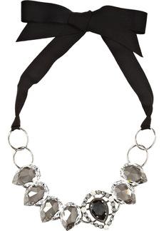 Lanvin Cassiopee gunmetal-tone crystal necklace