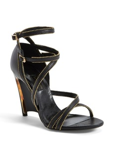 Lanvin Chain Embellished Leather Wedge Sandal (Women)