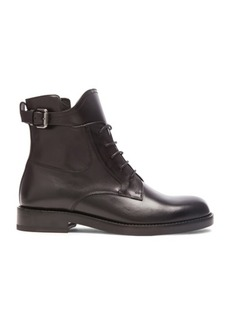 Lanvin Combat Leather Boots