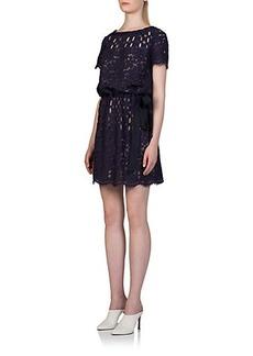 Lanvin Contrast Lace Dress