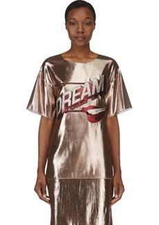 Lanvin Copper Lamé Dream T-Shirt