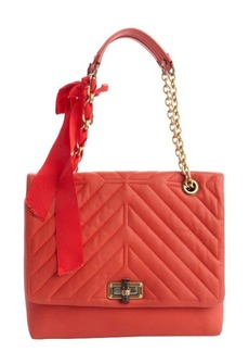 Lanvin coquelicot orange quilted lambskin medium 'Happy' bag