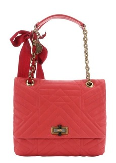 Lanvin coral quilted leather 'Happy' medium shoulder bag