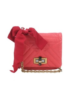 Lanvin coral quilted leather 'Happy Mini Pop' crossbody bag