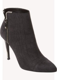 Lanvin Croc-Stamped Side-Zip Ankle Boots