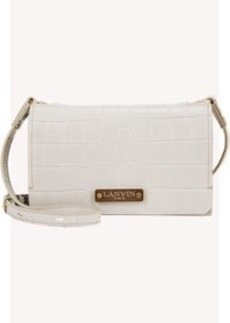 Lanvin Crocodile-Embossed Small Crossbody