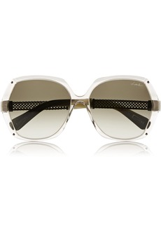 Lanvin D-frame acetate and metal sunglasses