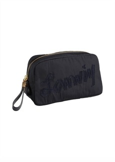 Lanvin dark blue nylon cosmetic case