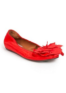 Lanvin Decorated Leather Ballet Flats