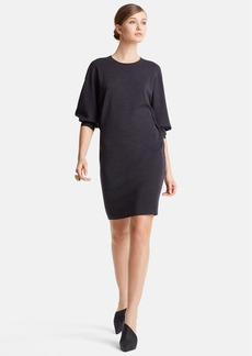 Lanvin Dolman Elbow Sleeve Wool Jersey Dress